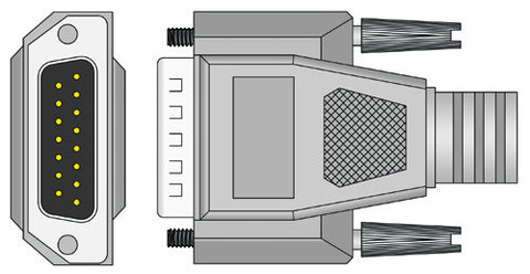 Spacelabs Compatible SL6 EKG Cable connector1