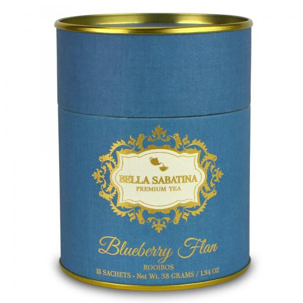 Bella Sabatina Tea Canister / Blueberry Flan