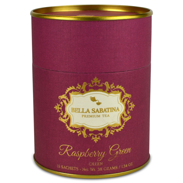 Bella Sabatina Tea Canister /  Raspberry Green