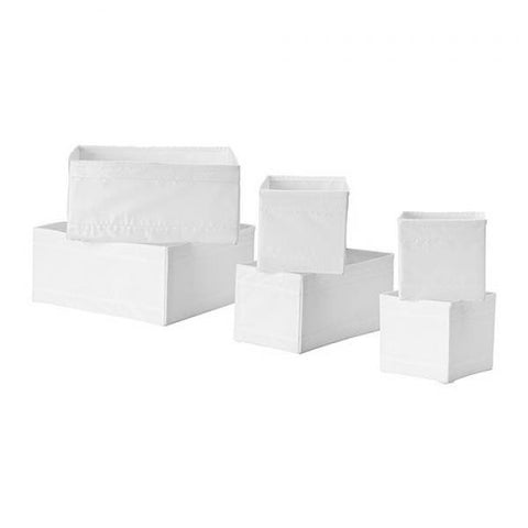 Drawer Cubes Set of 6 / White