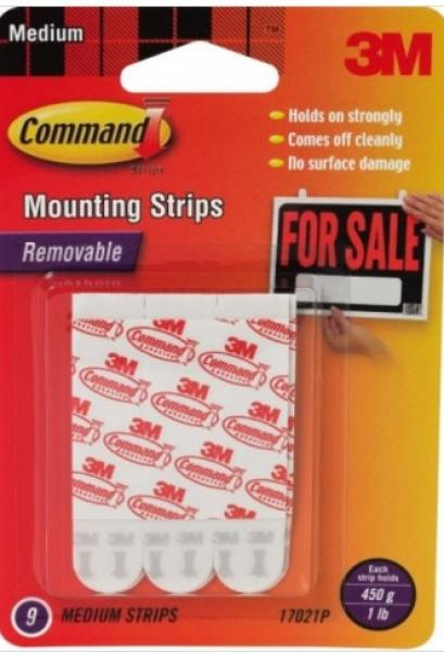 Command Adhesive Strips / 9 Pack - Large