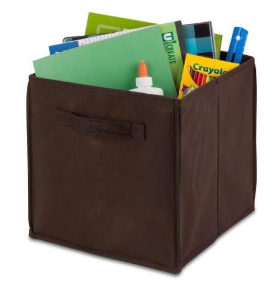 "Kids Storage Bin / Chocolate - 11.4""L x 10.6""W x 10.6""H"