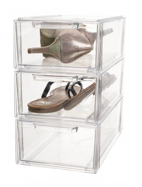 Shoe Drawer - Clear / Small Case of 6