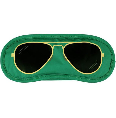 Aviator Eye Mask / Green
