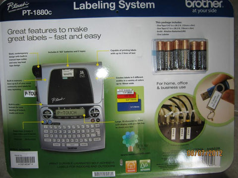 Brother P-touch Labeling System with Full Keyboard and Two Reams of Tape