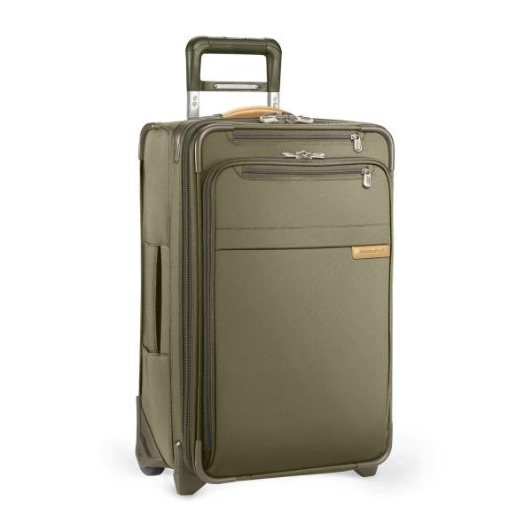 Domestic Carry-On Expandable Upright Luggage / Olive