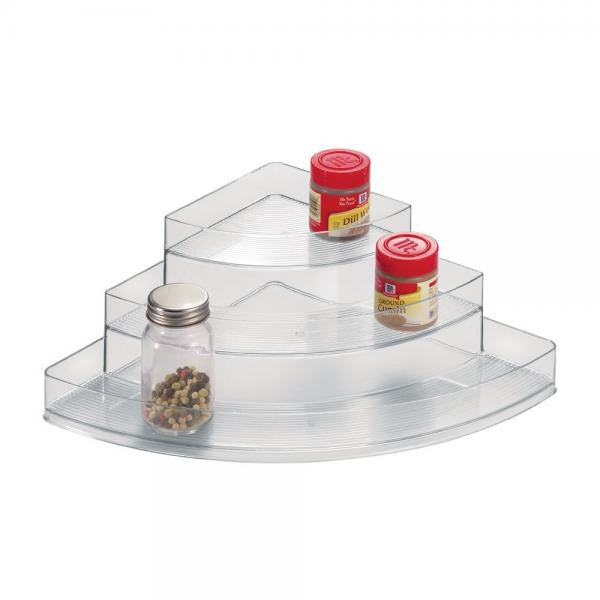 3 Tier Corner Spice Rack / Clear
