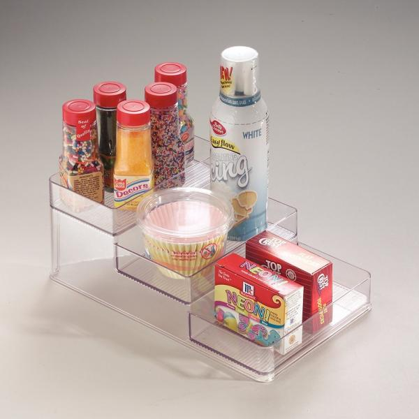 3 Tier Spice Rack Clear Small The Organizing Shoppe