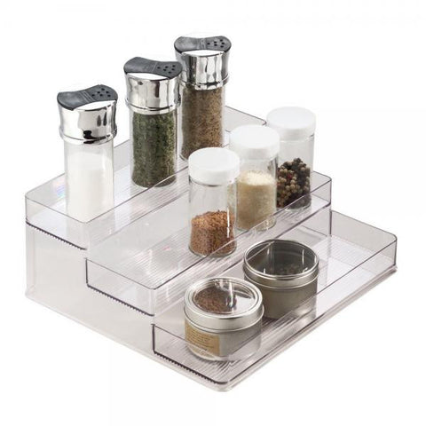 3 Tier Spice Rack / Clear - Large