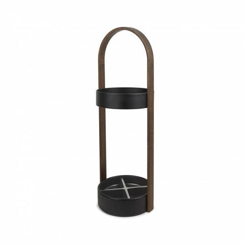 Hub Umbrella Stand / Black - Walnut
