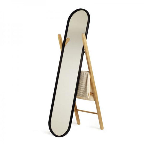 Freestanding Floor Mirror / Black - Natural