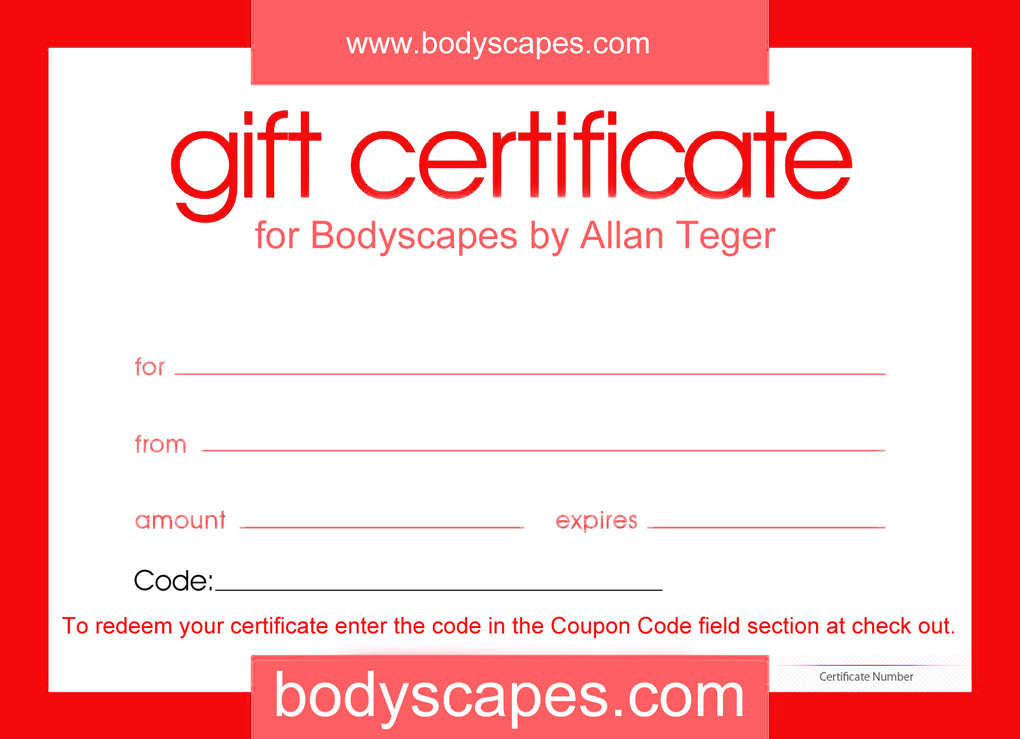 Bodyscapes Gift Certificate