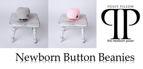 button beanie newborn prop