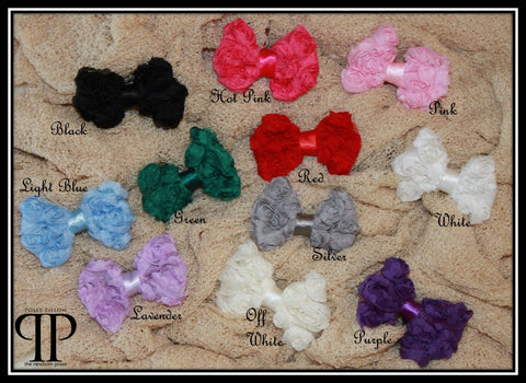 Chiffon Blossom Bow Headband ~ newborn photo props