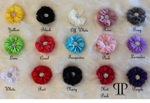 Crystal Ruffle Blossom Headband ~ newborn photo props