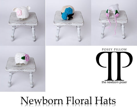 Floral Style Newborn Hats ~ newborn photo props