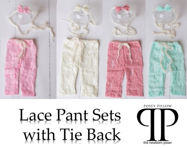 Lace pant set newborn photo prop