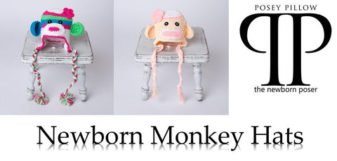 Monkey Newborn Hats ~ Newborn photo prop