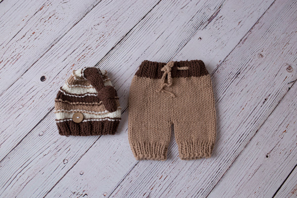 Crochet Pant/Hatset ~ newborn photo prop