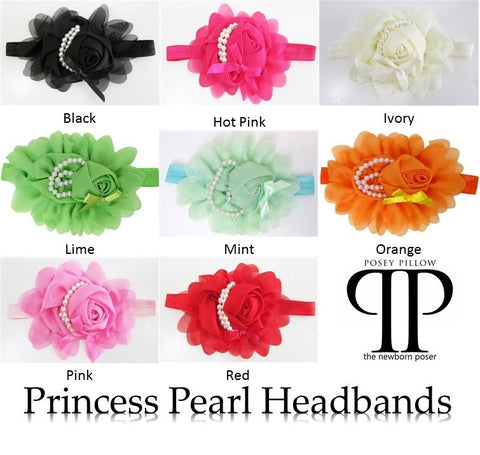 Princess Pearl Headband ~ newborn photo prop