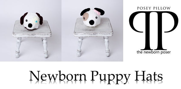 Puppy Style Newborn Hats ~ newborn photo prop
