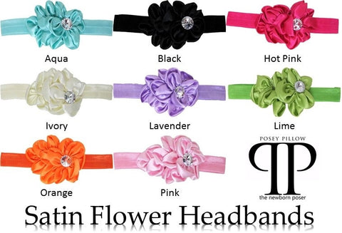 Satin Flower Headband