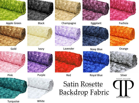 Satin Rosette Backdrop Fabric