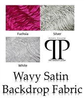 Wavy Satin Backdrop Fabric