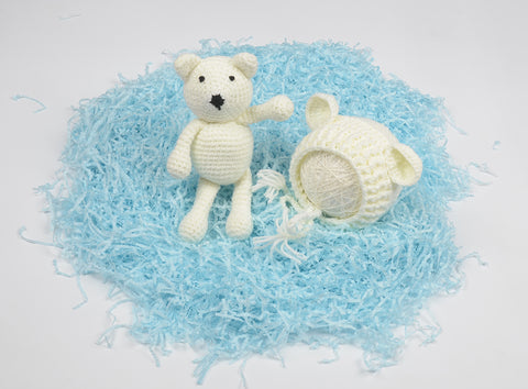 Tiny bear and Hat combo ~ newborn photo prop