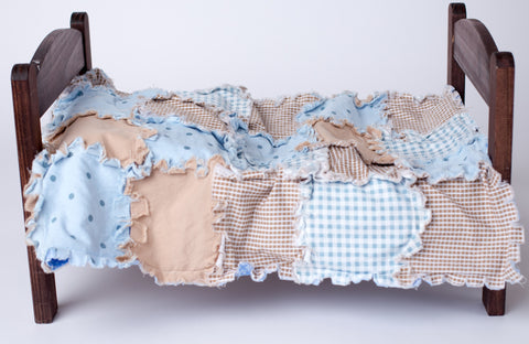 blue gingham rag quilt