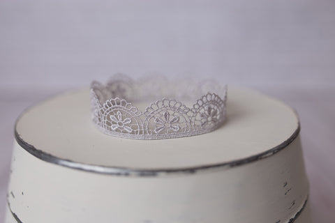 Lace crown newborn photo prop