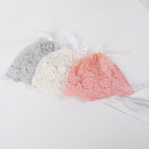 Lace bonnet ~ newborn photo prop