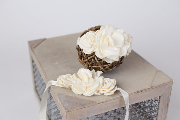 Flower Belly Band / Headband Combo ~ Maternity photo prop
