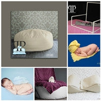 Starter Set #18 ~ Travel size Posey Pillow, Squishy poser,& Small size pvc backdrop stand