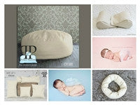 Starter set # 21 ~ Travel size Posey Pillow, Squishy Poser, Doughnut Poser, and set of 5 positioners