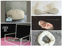 Starter Set #23 ~ Posey Pillow Travel size, Squishy poser, Doughnut Poser & Small size pvc backdrop stand