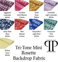 Tri-Tone Mini Rosette Backdrop Fabric