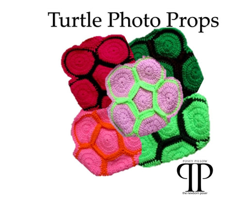 Crochet Turtle style photo prop ~ newborn photo prop. clearance