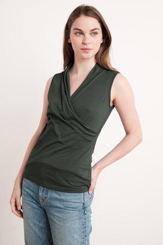 ADELISE GAUZY WHISPER CLASSICS TOP IN EARTHY
