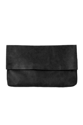 TYLER FOLD OVER CLUTCH IN BLACK