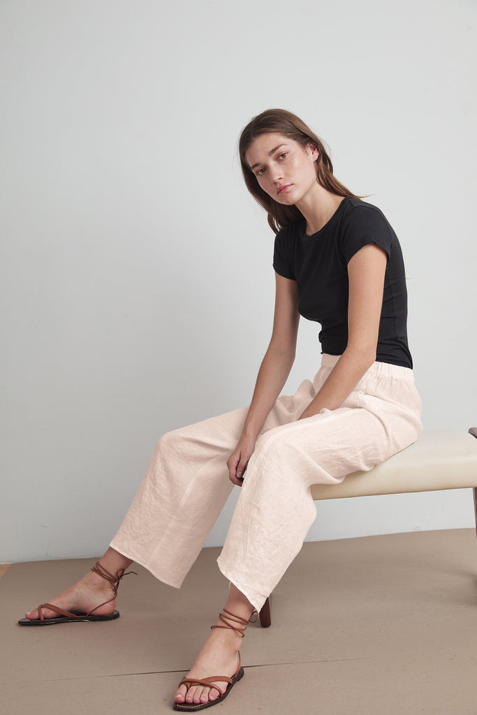 ZOLA WOVEN LINEN PANT IN CORSET
