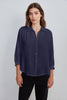 DAYNA COTTON CONTRAST BLOUSE IN CARBON