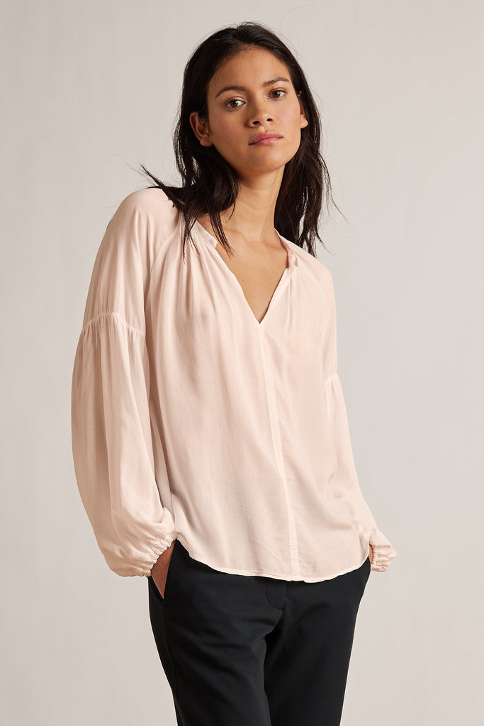 ELAINE RAYON CHALLIS BLOUSE IN PETAL