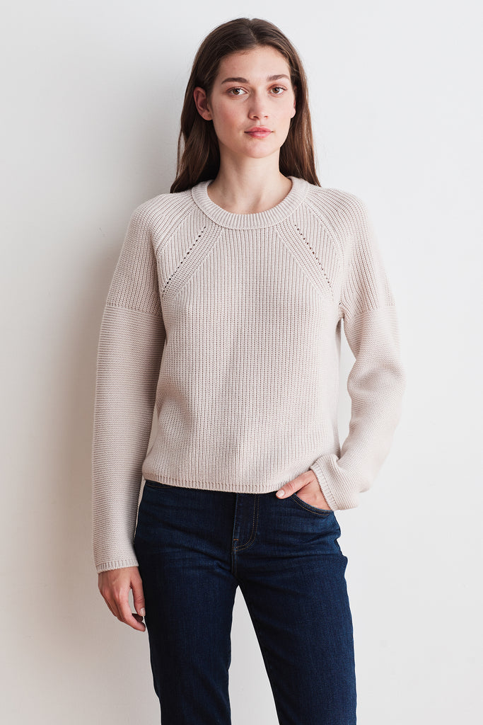 PATICIA ENGINEERED STITCHES TOP IN NUDE