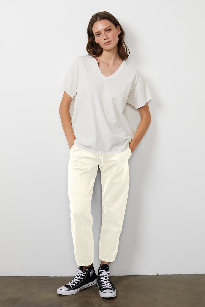 GITA SOFT FLEECE SWEATPANT IN COCONUT