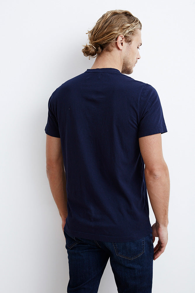 HOWARD WHISPER CLASSIC CREW NECK TEE IN MIDNIGHT