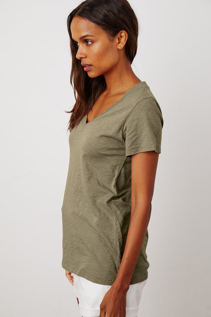 LILITH COTTON SLUB TOP IN AXE