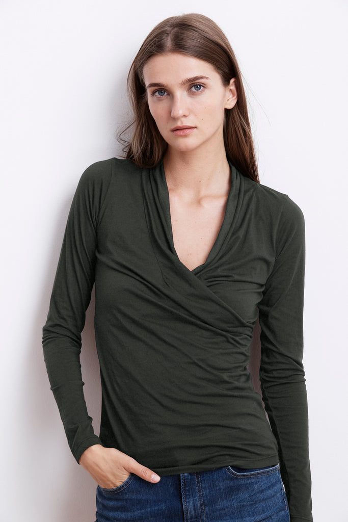 MERI WRAP FRONT TOP IN ELEPHANT