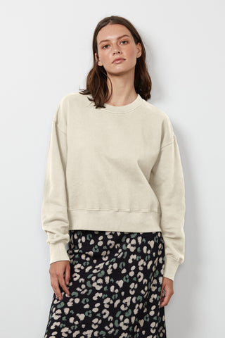 NELLA SOFT FLEECE SWEATSHIRT IN COCONUT