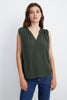 RAVIN SLEEVELESS BLOUSE IN ARMY